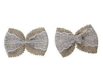 3 Butterfly hemp knots and lace 8.3 x 5.8 cm