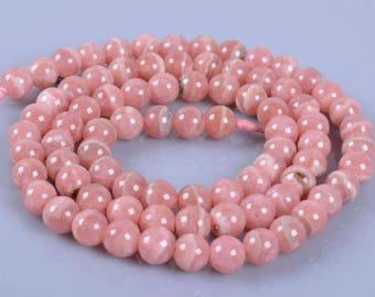80 beads 5 mm genuine Rhodocrosite within 15 days