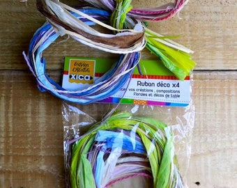 ribbons decorative raffia compositions floral 10cm