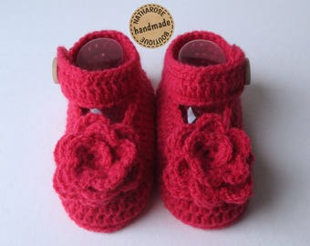 Chaussons babies ballerines roses