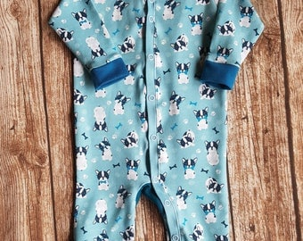French Bulldog baby jumpsuit size 68