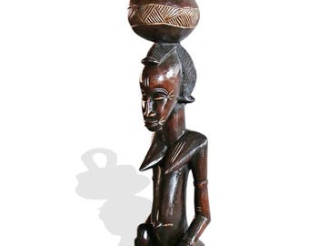 Traditional Baule Peau Statue