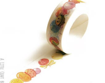 1 roll of washi tape - balloons