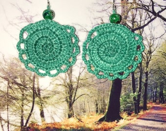 Crochet dangle and drop earrings