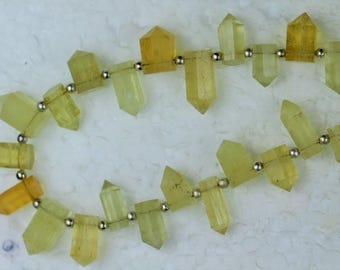50% Off, 8 inch long strand faceted Aquamarine Beads, 4 x 9 -- 5 x 12 mm approx [ M96 ]