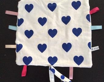 Pacifier pattern heart blanket