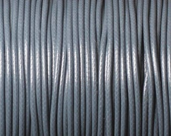 Reel 90 m - wire cord 1.5 mm dark grey waxed cotton cord