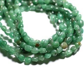 20pc - stone beads - Aventurine green Nuggets 7-10mm - 4558550085467