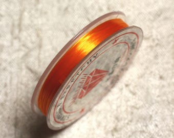 Coil 10 m - 0.8 - 1 mm elastic Orange light 4558550014085