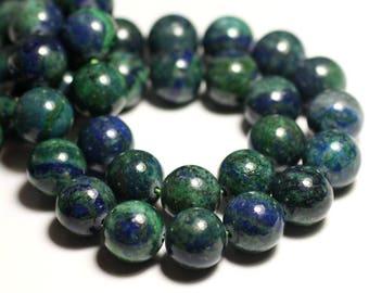 5pc - stone beads - Chrysocolla balls 10mm 4558550037466