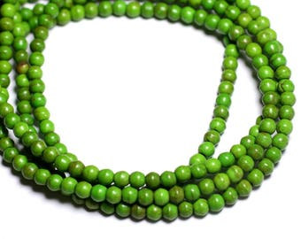 40pc - synthetic Turquoise beads 4mm Green 4558550022349 balls