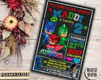Pj Masks, Pj Masks Invitation, Pj Masks Birthday, Pj Masks Party, Pj Masks Birthday invitation, Pj Masks Party Invitation, Pj Masks Invite