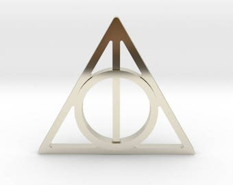 Harry Potter Deathly Hallows Symbol Lapel Pin/Tie Tack | Harry Potter Suit Pin | Gold | Silver | Rose Gold | Bronze | FREE SHIPPING