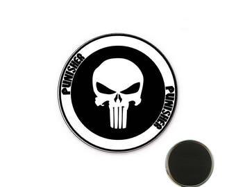 Punisher white 32 mm Magnet magnet