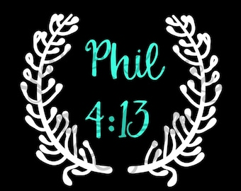 Bible Verse Decal/Sticker, you choose the bible verse!