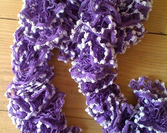 "Scarf frou-frou ""Spectra"" purple with small ponpons parmes"