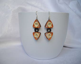 Earrings modern paper, geometric