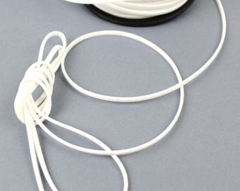 White 3 mm suede cord / 1.5 mm sold per meter