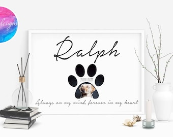 Pet Memorial Print Customised by North C Designs