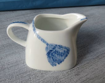 Creamer porcelain decorative blue tassel