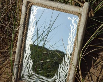 Picture Mirror with engraved design