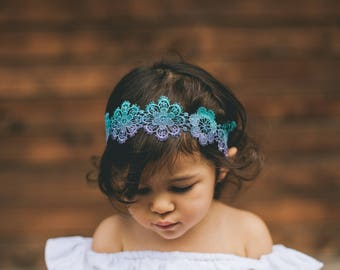 Ombre flower headbands