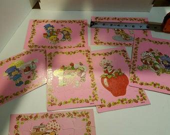 Vintage Strawberry Shortcake puzzles