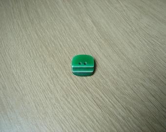 button shape square three green tone