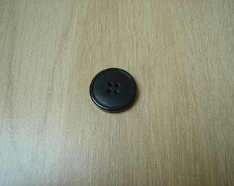 large round shape black 25mm button