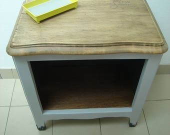 two tone NYC bedside table
