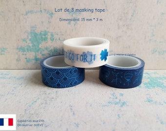 Set of 3 masking tape (15 mm * 3 m)