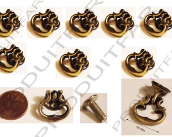 Set of 8 Mini handle handle iron drawer furniture business Dresser sideboard locker 16 mm Bronze