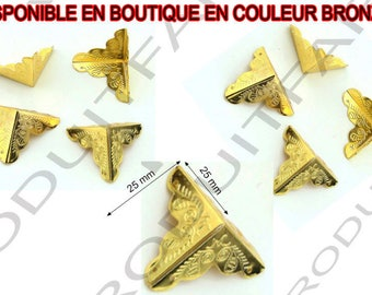 8 corners protective shockproof gold Angle and embellishment for furniture box chest