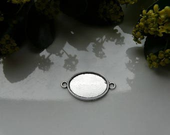 Charm oval silver connector 18 mm * 25 mm (inside)