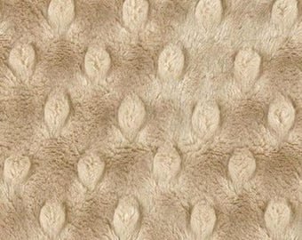Minky fabric velvet cafe au lait in coupon