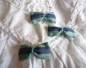 Set of 3 small fabric bows
