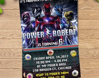 Power Rangers Invitation, Power Rangers Birthday Party, Power Ranger Birthday Invitation, Power Rangers Birthday