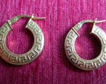 "Golden Hoop Earrings ""Versace"" 585"