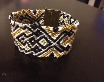 Bracelet friendship cuff made of cotton way