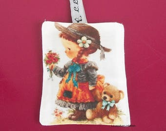 with image girl Lavender sachet