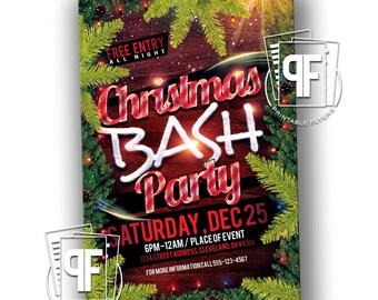 Christmas Bash Flyer - Christmas Dinner Invitation - Christmas Party Invitation - Christmas Party Flyer - Christmas Dinner Flyer