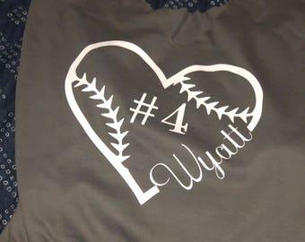 Tee ball/baseball/softball Mom Tee Shirt