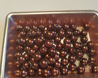 Bronze Brown round beads 6MM
