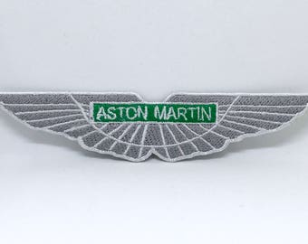 1241# New Aston Martin DBS DB7 DB9 F1 Racing Iron on Embroidered Patch