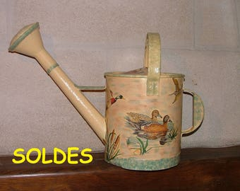 """Old metal watering can """"wildfowl"""""""