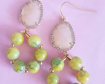 Citrus yellow earrings  MJ009