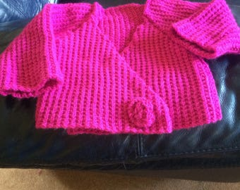 Hand knitted cardigan age 3-6 months