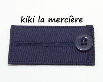 button for pants or skirt adjustable extension on 2 level Blue Navy