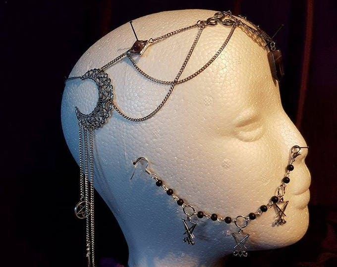 Hecate Tiara  - hecate occult lucifer baphomet pentagram gothic witch blackmagic wicca pagan