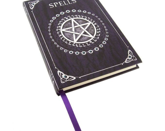 Spell Book Purple - wicca spell book occult witch gothic spells ritual craft pentagram